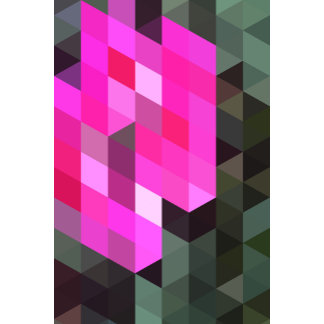 Geometric Patterns   Pink and Grey Triangles
