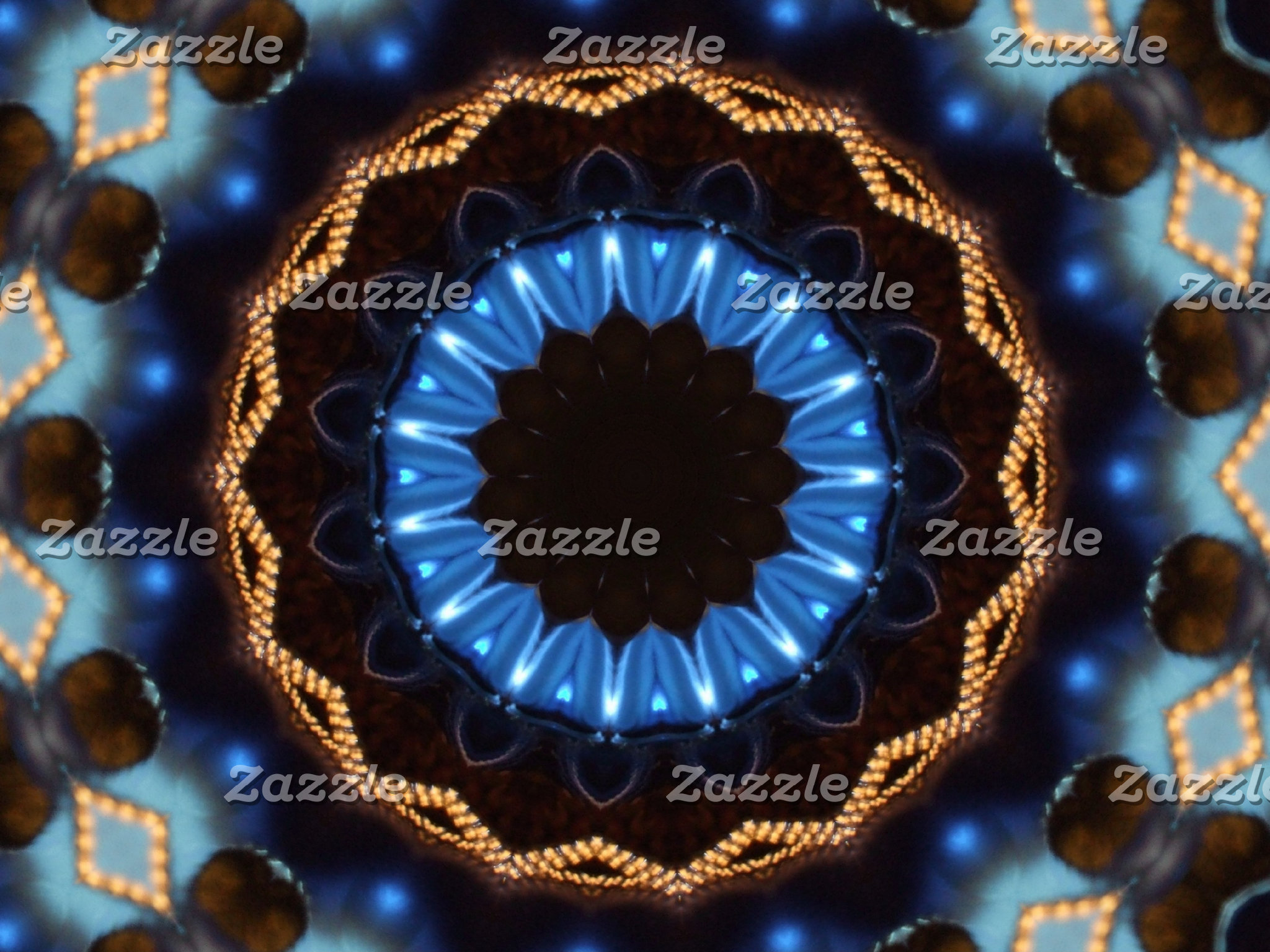 Christmas Blue Kaleidoscope