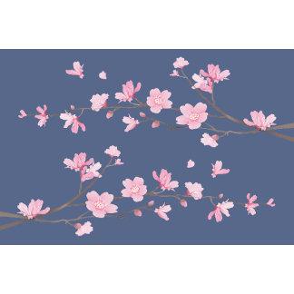 Cherry Blossom - Denim Blue
