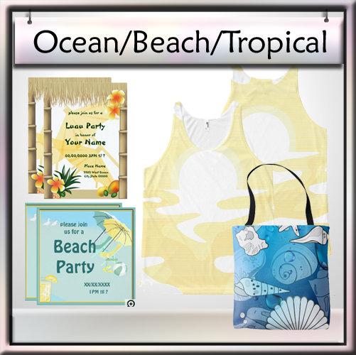 Ocean, Beach, Tropical