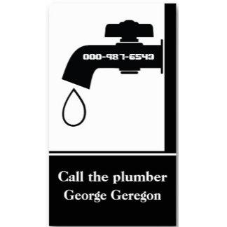 Plumber tap eye-catching plumbing business cards