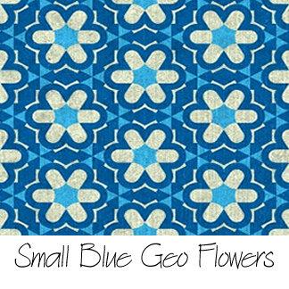 Small Blue Geo Flowers