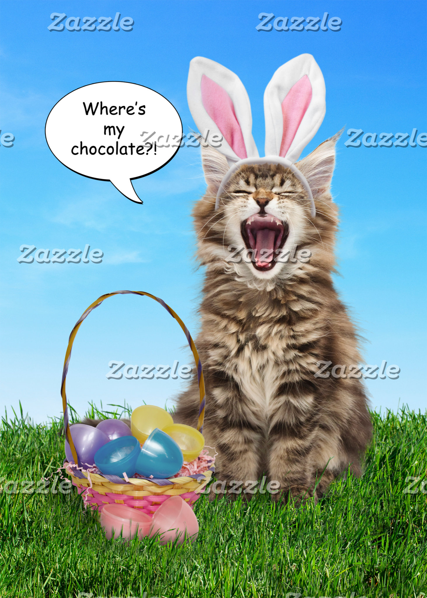 Where's My Chocolate? Easter Cards & T-Shirts