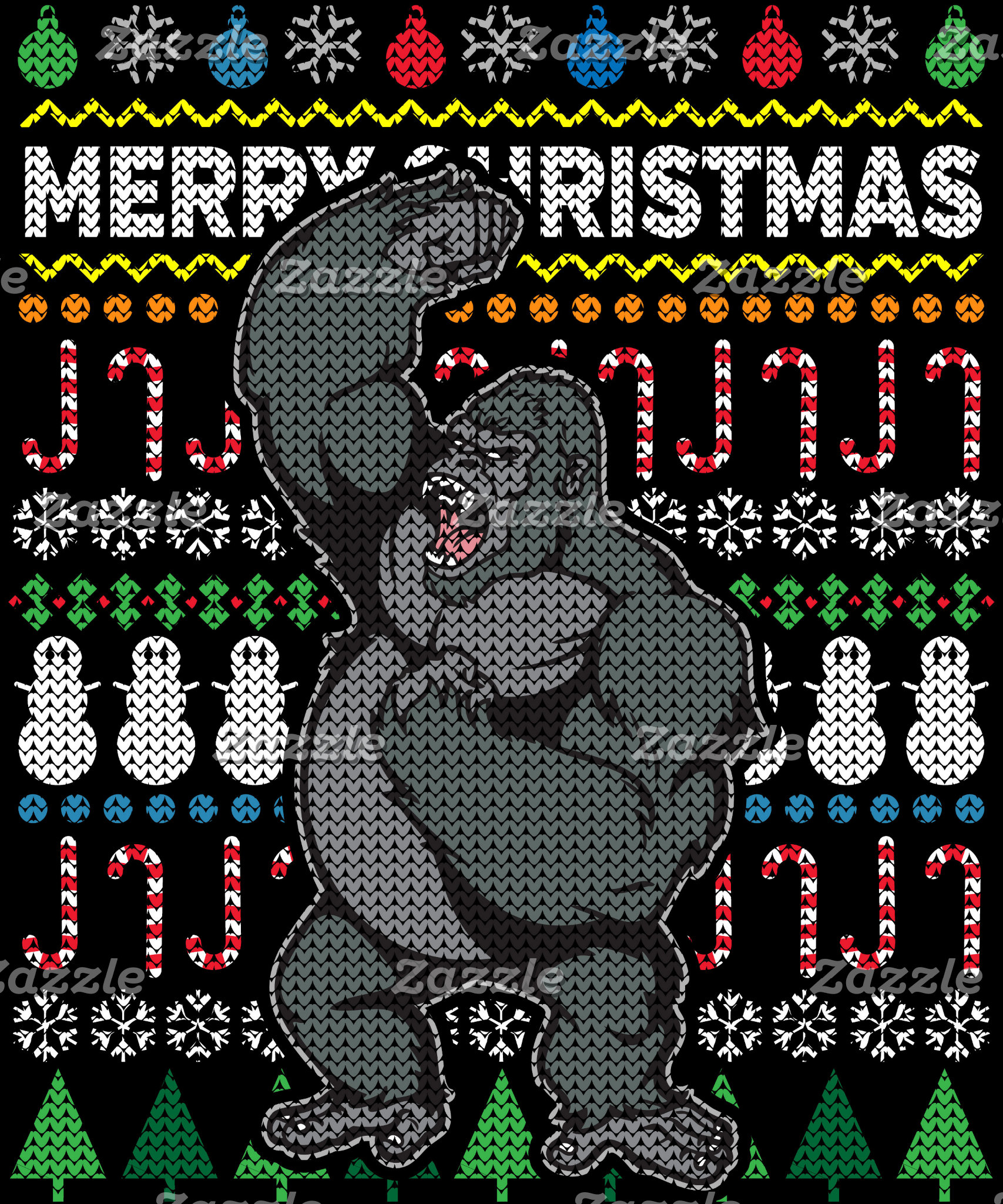 Gorilla Ugly Christmas Sweater