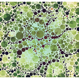 Geometric Patterns   Green Circles and Triangles