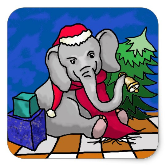 Christmas With Elephants