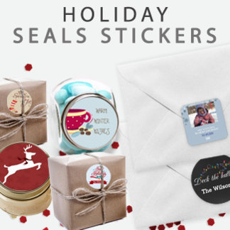 Holiday Envelope Seals Stickers