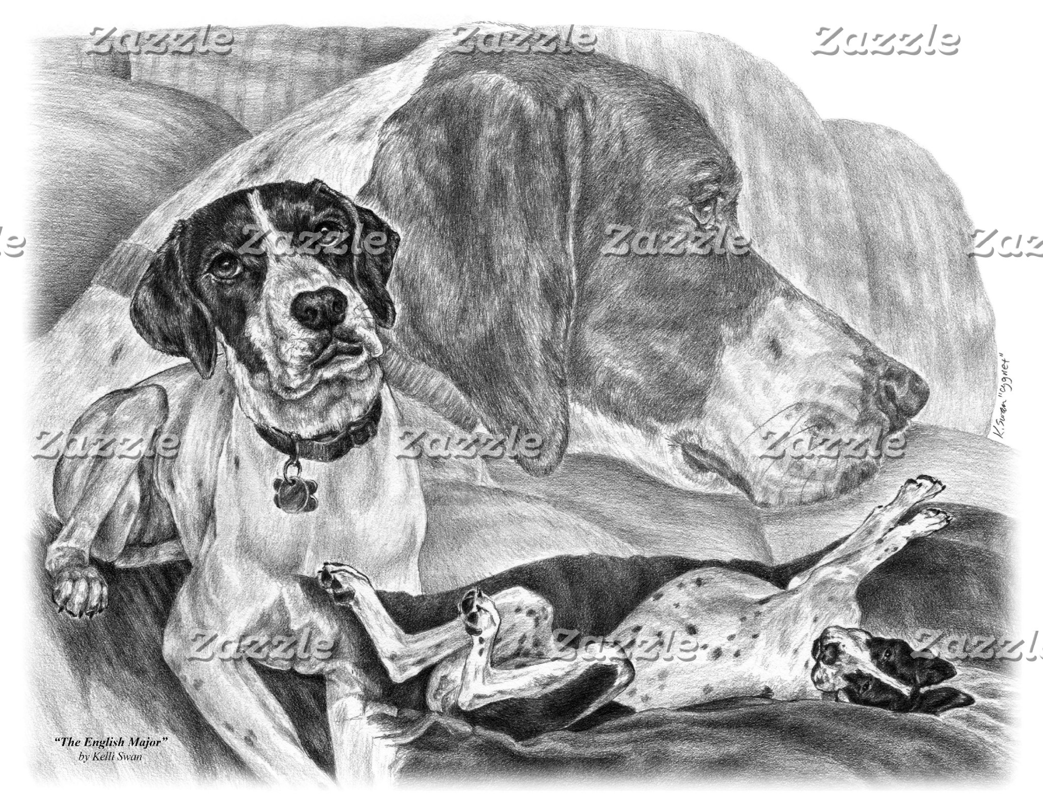 English Pointer Dog Art