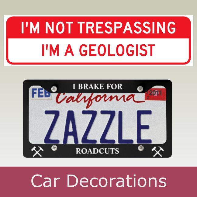 Car Decorations (Bumper Stickers, Plate Frames)