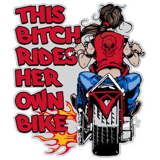 This ***** Rides Her Own Bike