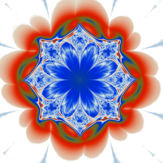 Abstract Tropical Blue Flower Plant