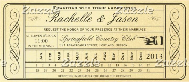 Vintage Wedding Ticket Collection II