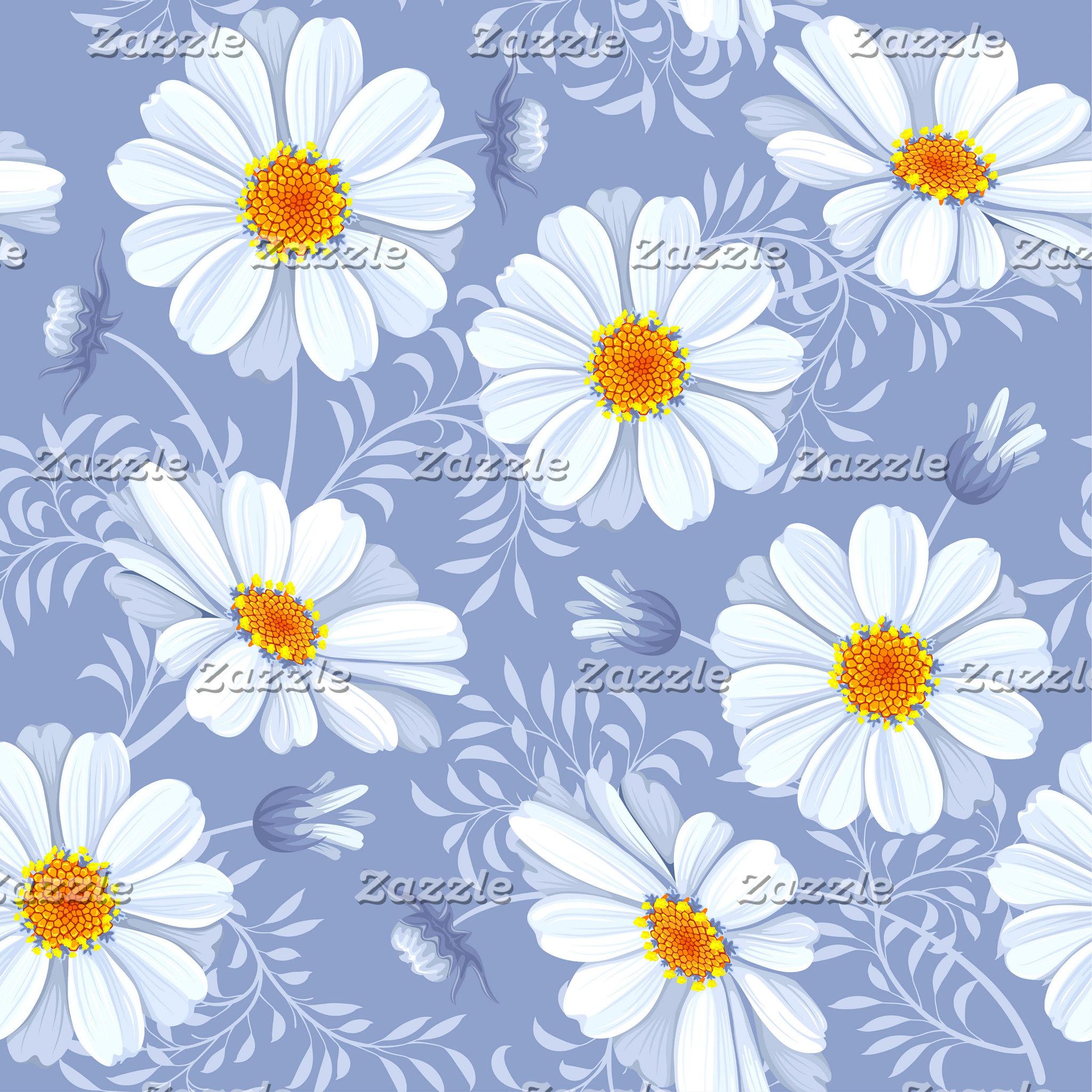Spring Summer White Flower Bathroom and Home Decor