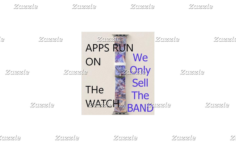 !! # Apple Watch Band Art Background