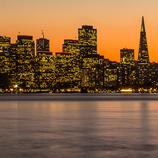 Beautiful sunset in San Francisco