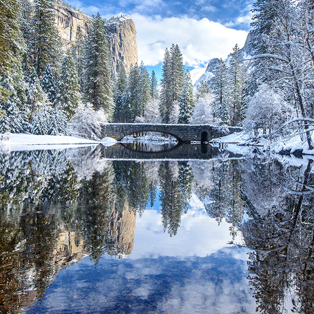 Winter Reflection at Yosemite