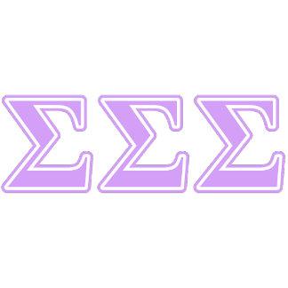 Sigma Sigma Sigma Lavender Letters
