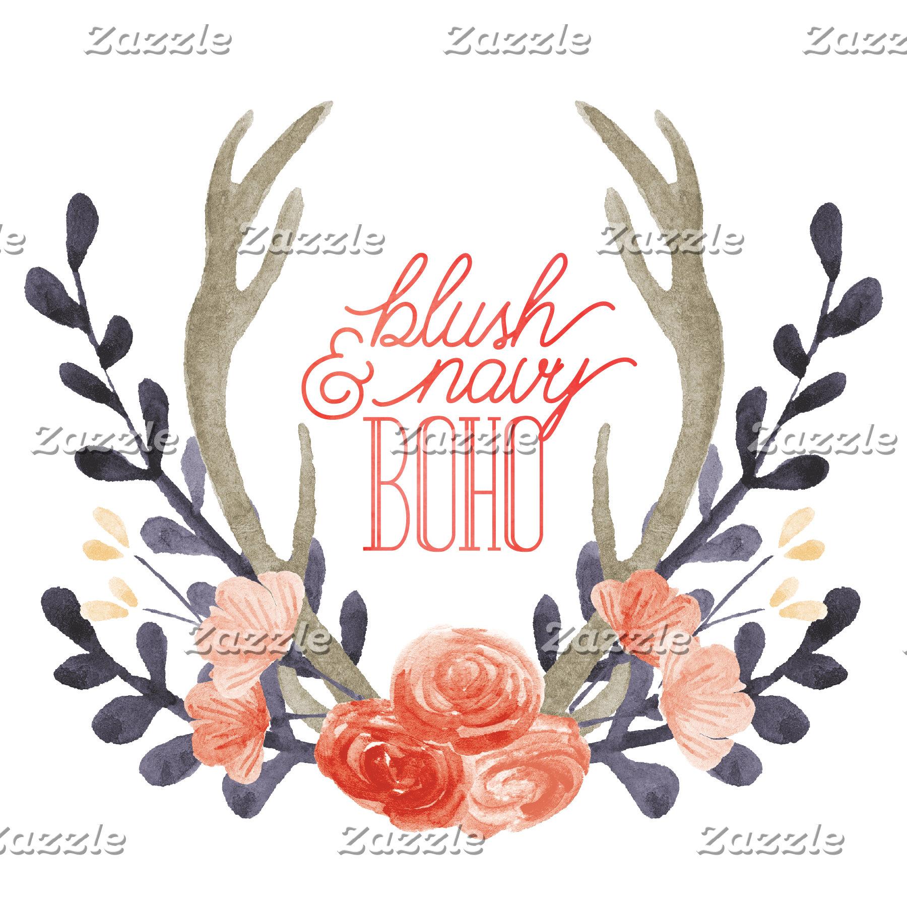 Blush & Navy Boho