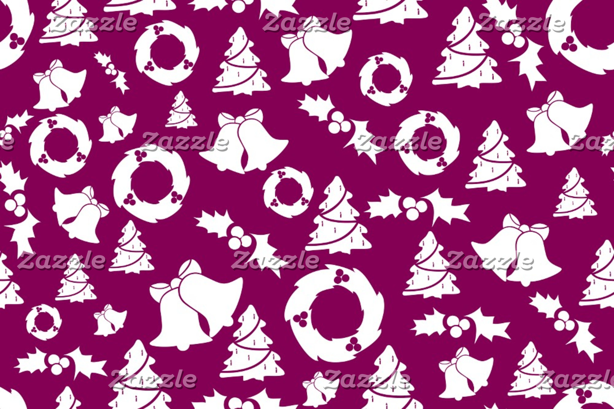 Purple Christmas Pattern