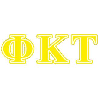 Phi Kappa Tau Yellow Letters