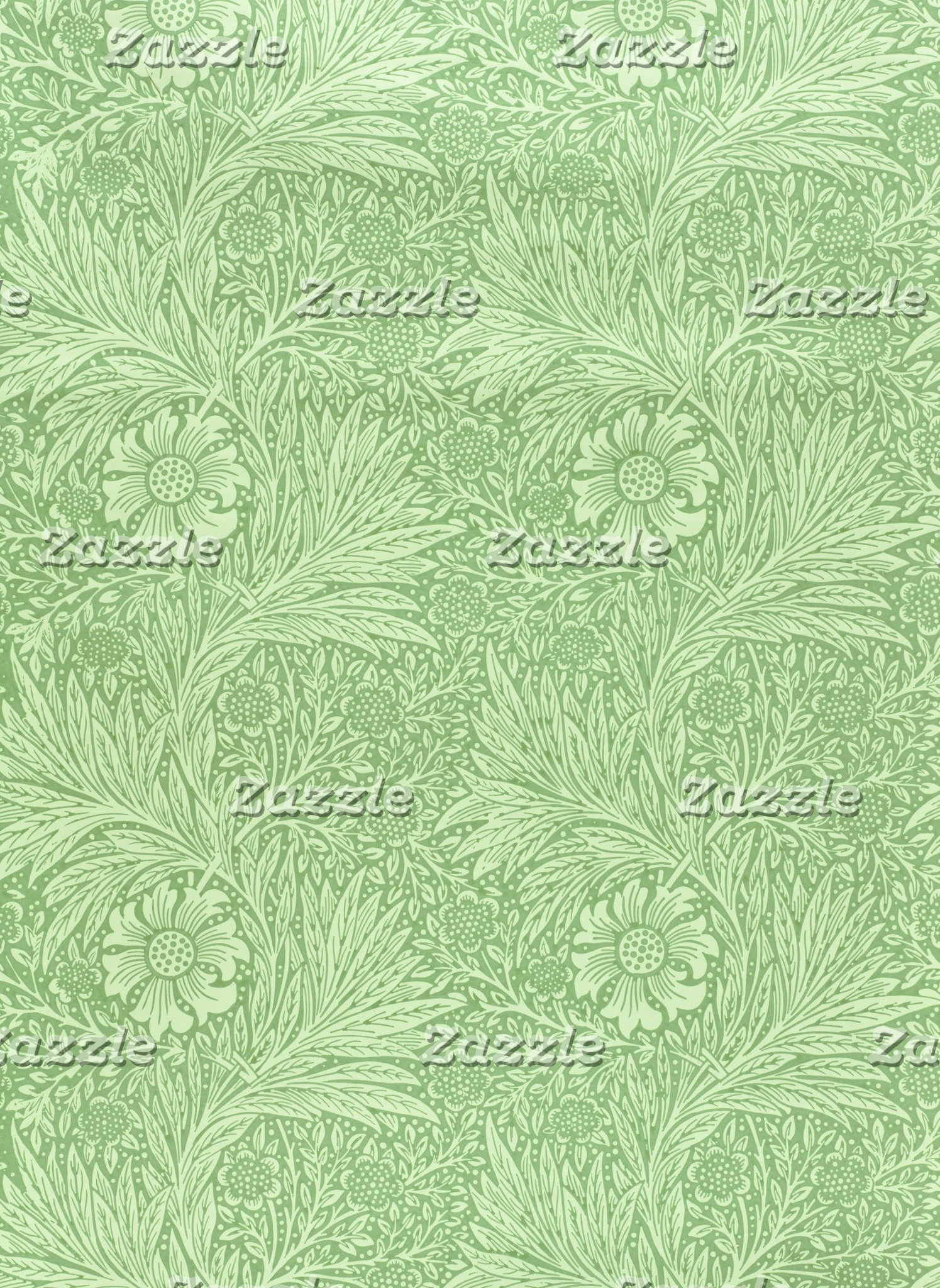 William Morris Marigold Pattern (Green)