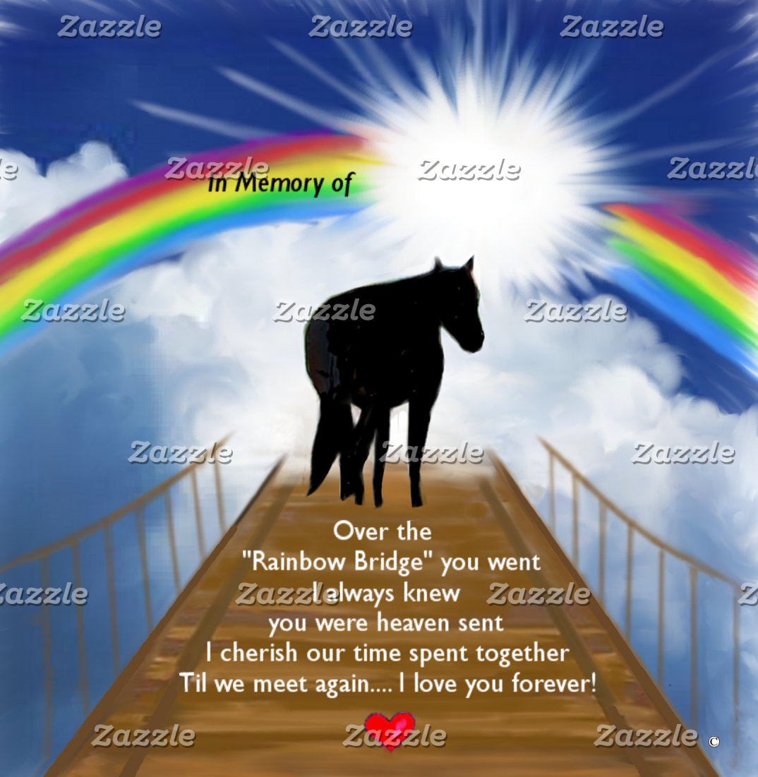 Rainbow Bridge Memorial for Horses