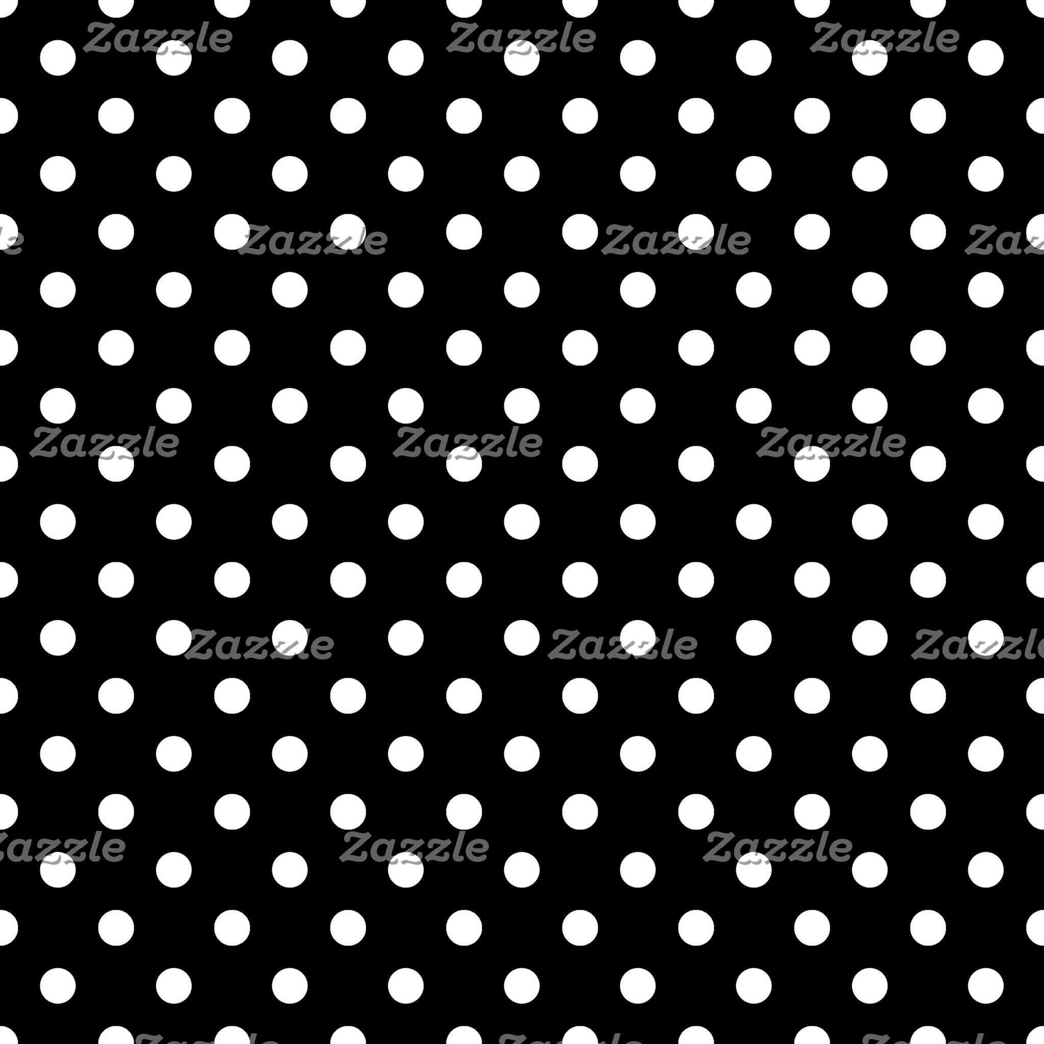 Black & White Polka Dot Bathroom and Home Decor