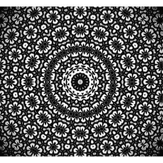 Black and White Kaleidoscope Pattern I