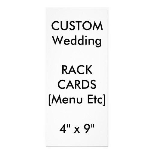 Menu & Program Rack Cards