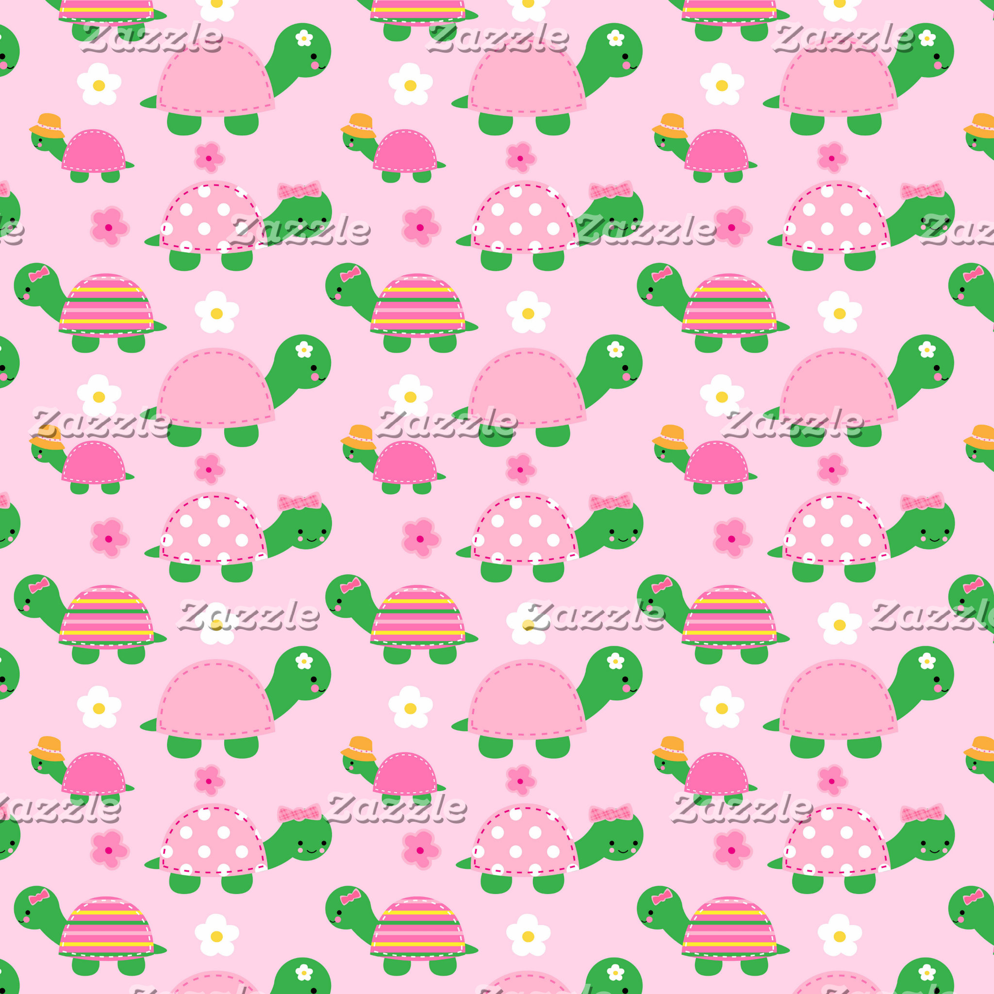 Fun Green and Pink Turtle Bathroom and Home Decor