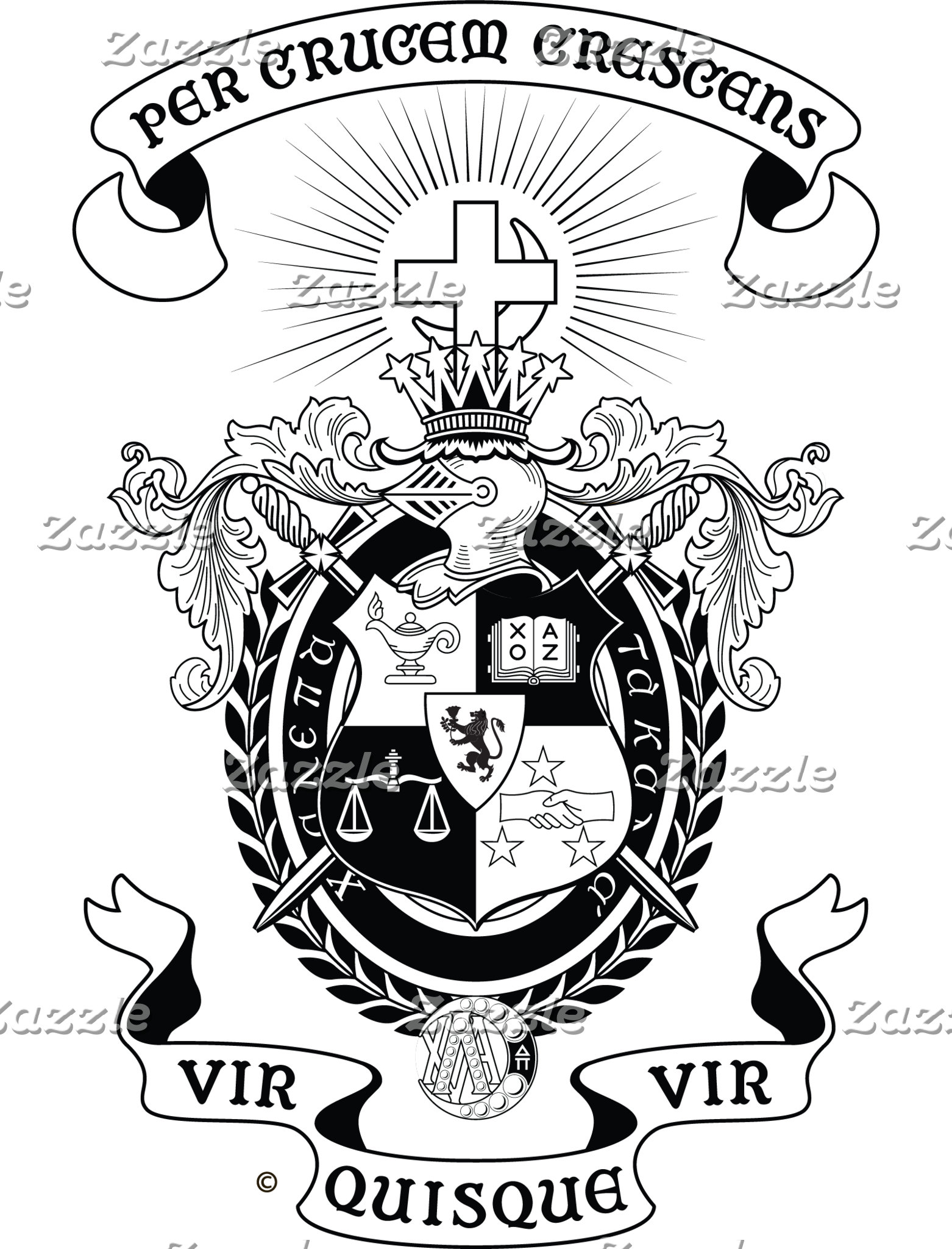 LCA Coat of Arms B+W