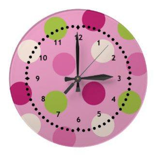 Polka Dots Clocks