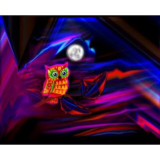 Neon Owl Thunderstorm Flash
