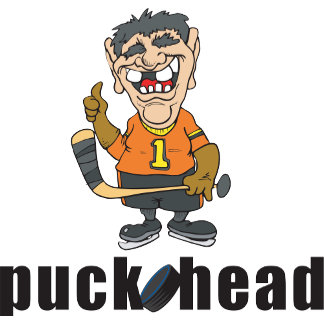 Funny Hockey Puck Head T-Shirt Gifts Cards