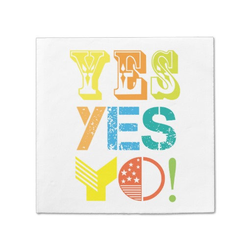 funky quotes paper napkins