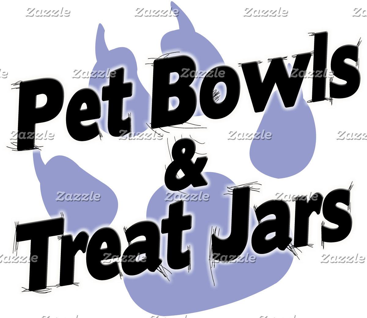 Pet Bowls and Treat Jars!