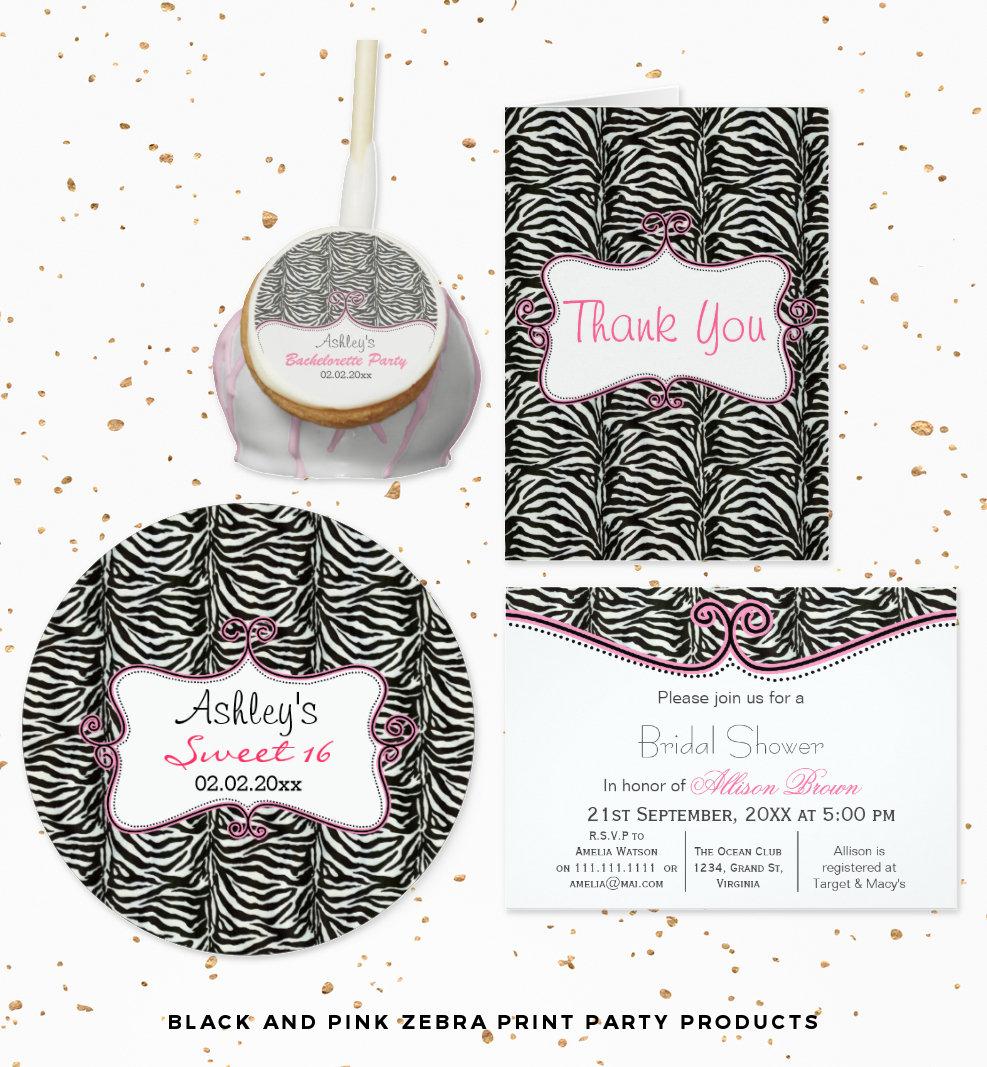 Zebra Print Theme Party