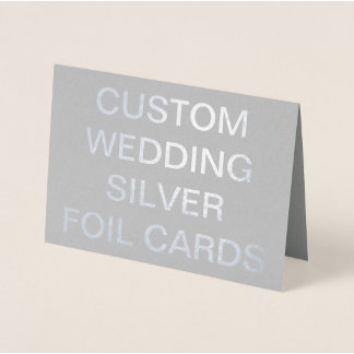 Silver Foil Cards