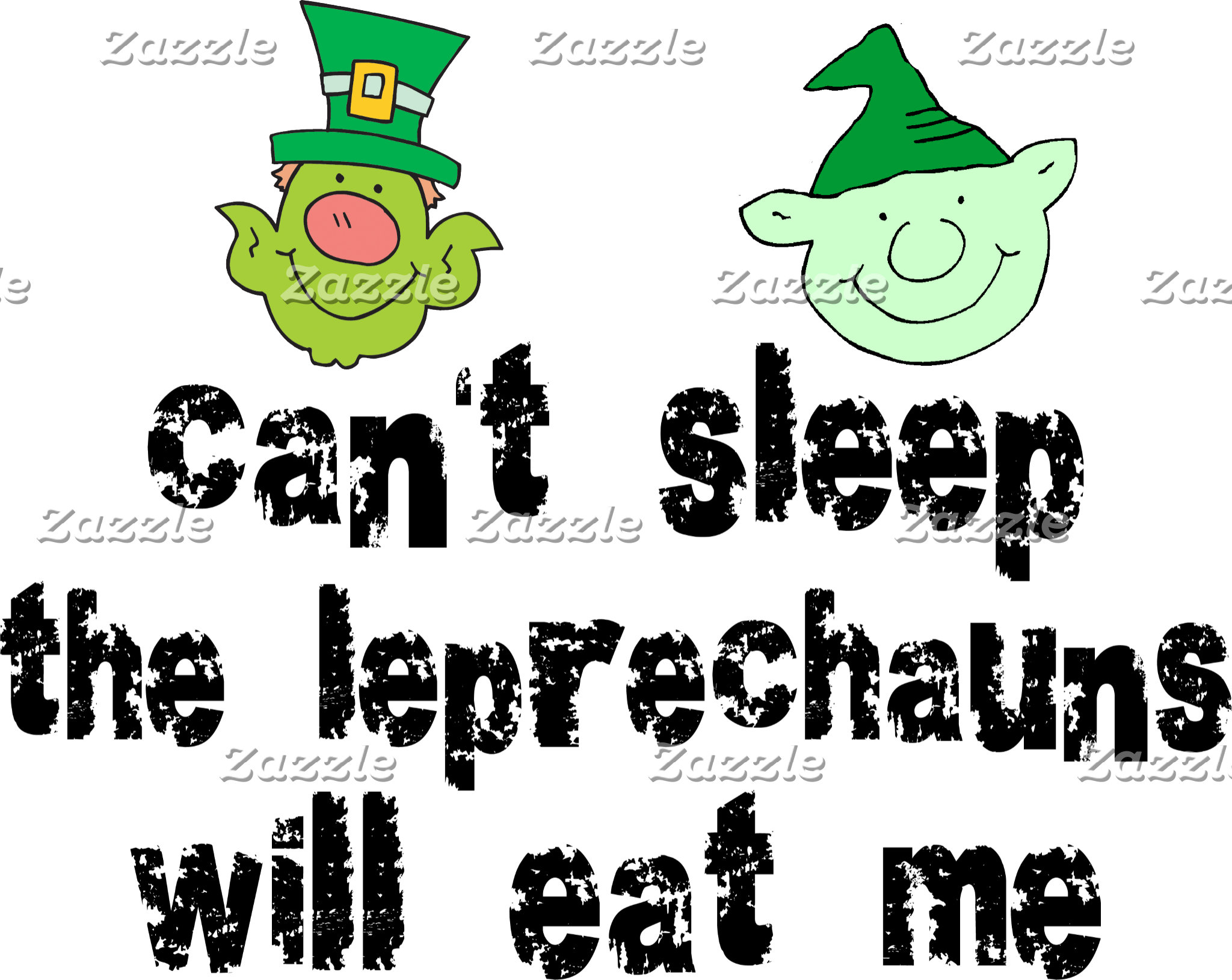 Funny Leprechaun T-Shirt Gift Cards