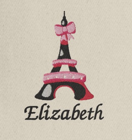 Embroidered Paris Theme Gifts