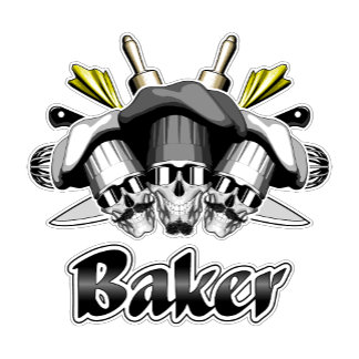 Baker Skull and Kitchen Utensils