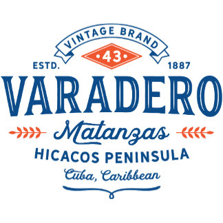 Varadero Cuba Vintage Badge Typography