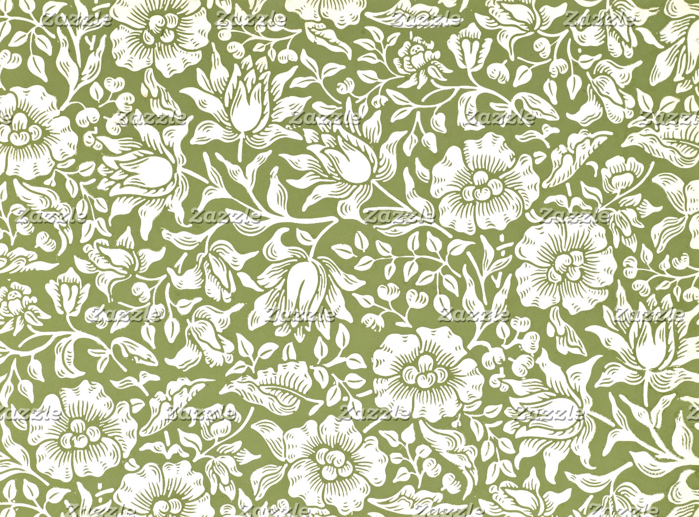 William Morris Mallow Green