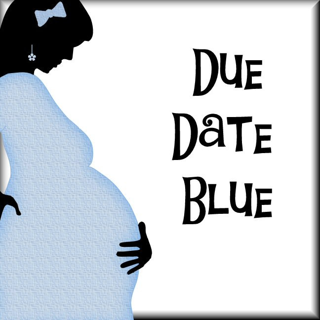 Due Date Blue Blanket