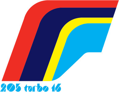 Peugeot 205 Turbo Rally symbol