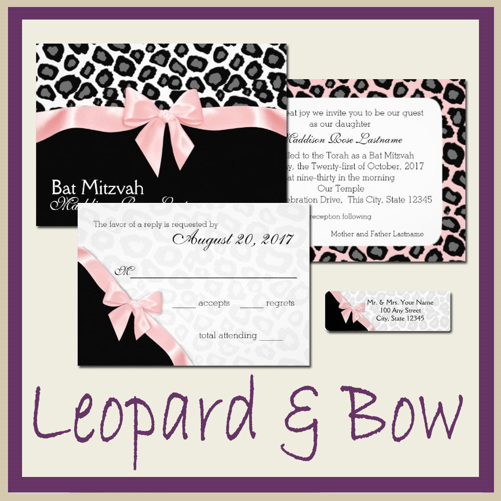 Leopard Spots and Ribbon