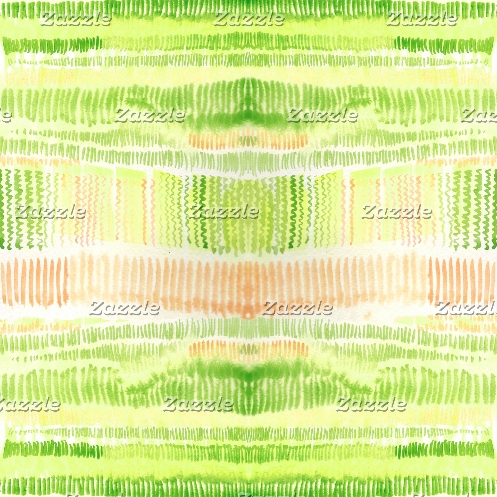 Green and yellow lines watercolor