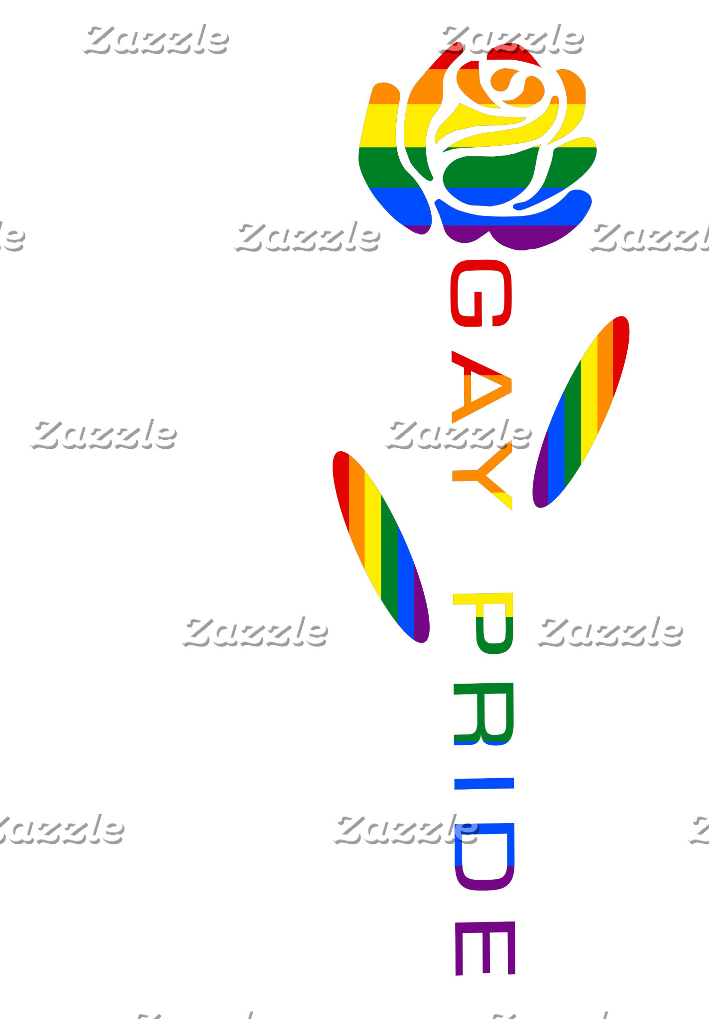 Gay Pride Flag Rose