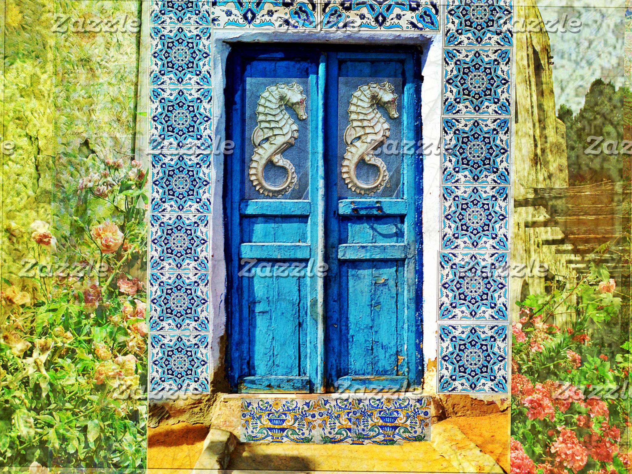 seahorse door