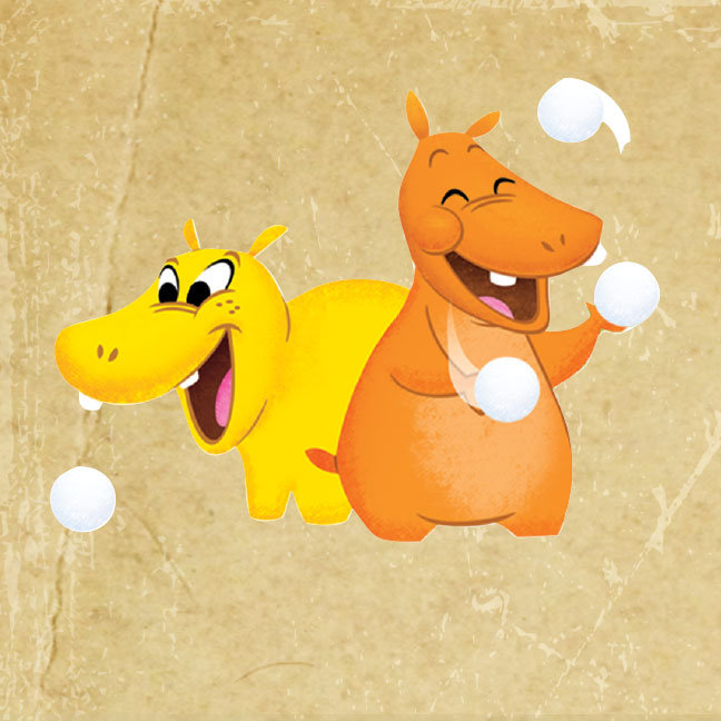 Yellow & Orange Hippos